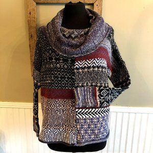 Free People Sweater Small Oversized Mock Neck Knit